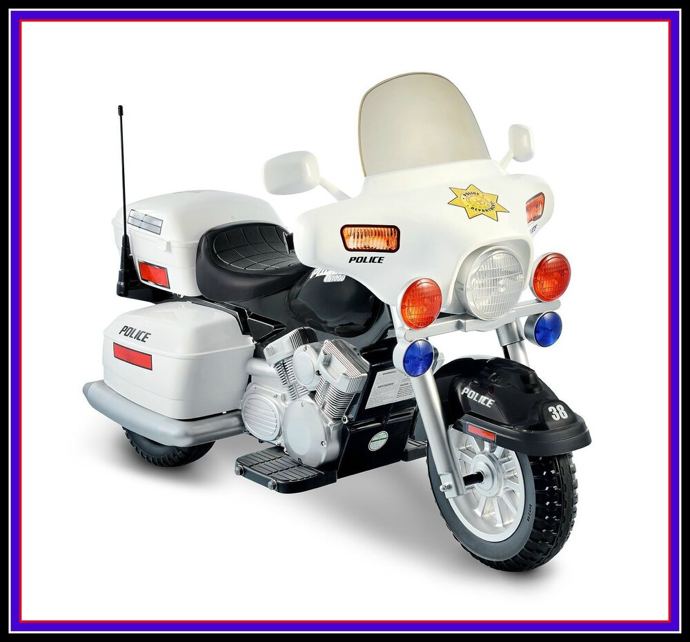 Ride on police toy motorcycle 12v battery powered electric Motorized kids toys