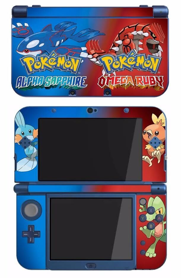 pokemon omega ruby alpha sapphire game skin for the nintendo new 3ds xl console ebay. Black Bedroom Furniture Sets. Home Design Ideas