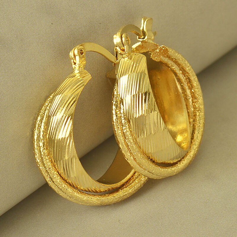 Perfect 14k Gold Plated Small Balls Huggie Hoop Women39s Earrings 039quot  EBay