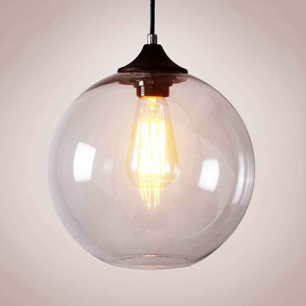 Modern Glass Clear Lampshade Ceiling Vintage Retro