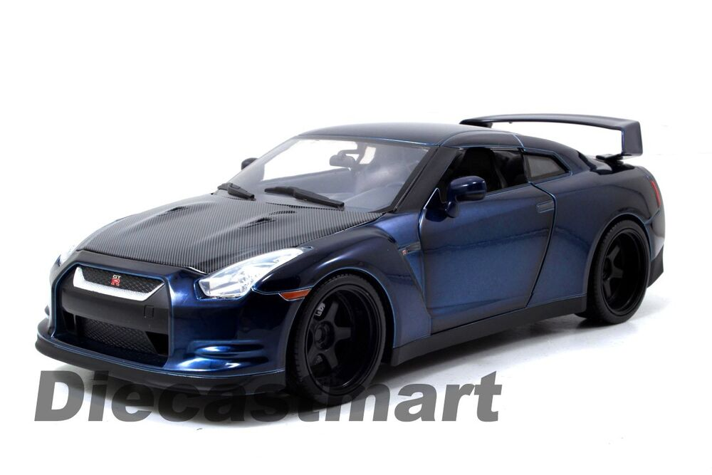 jada 97035 fast and furious 7 brian 39 s 2009 nissan skyline gtr r35 1 18 blue ebay. Black Bedroom Furniture Sets. Home Design Ideas