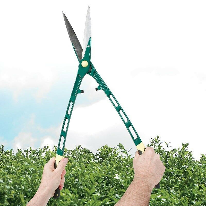 Super lightweight extra long reach handles hedge shears for Lightweight garden shears