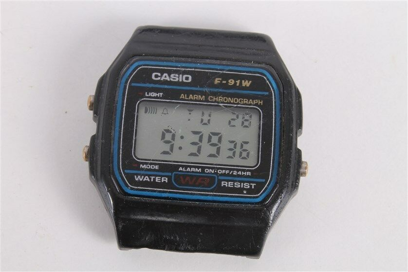 Vintage Retro Casio F91-W Alarm Chronograph Wrist Watch ...