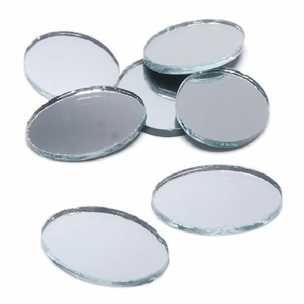 Mirrors Small: 2 X 1.5 Inch Glass Craft Small Oval Mirrors 24 Pieces Oval