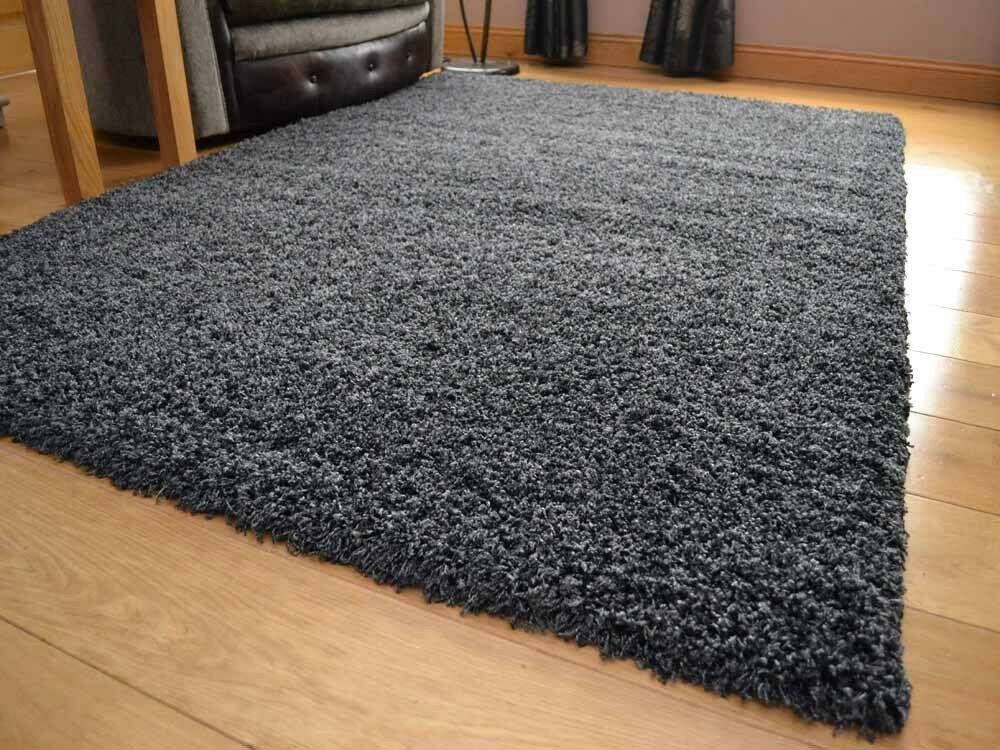 Charcoal Grey Small Extra Large 5cm Soft Thick Pile Plain