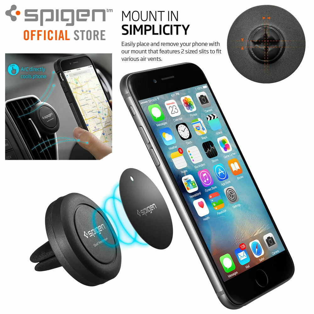 car mount phone holder dock genuine spigen air vent. Black Bedroom Furniture Sets. Home Design Ideas