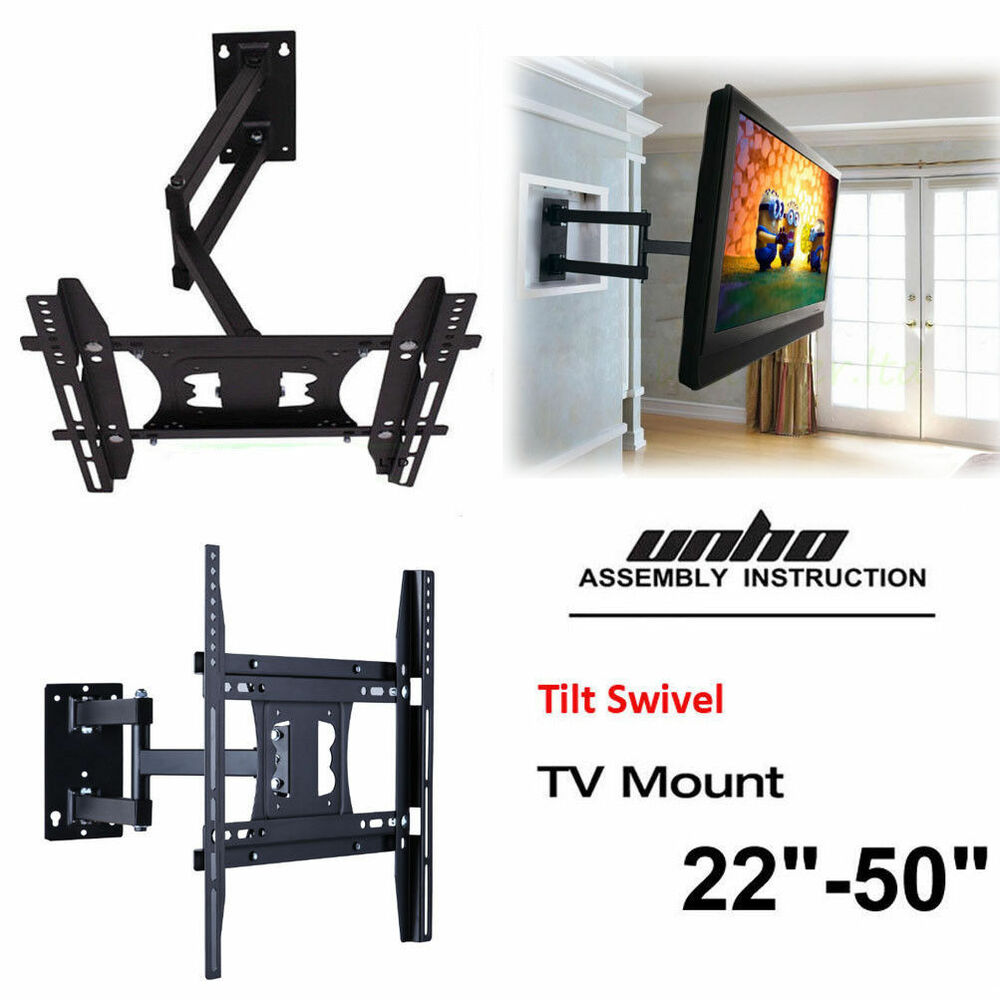 universal articulating arm tv wall mount holder stand led lcd 32 39 40 42 48 50 8438669531221. Black Bedroom Furniture Sets. Home Design Ideas