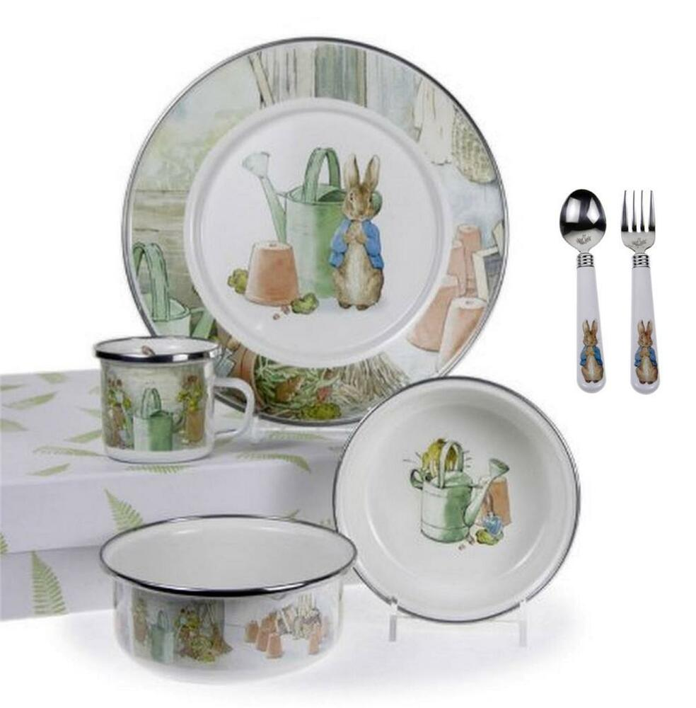 Peter Rabbit Baby Gift Sets : Golden peter rabbit watering can plate bowl cup flatware