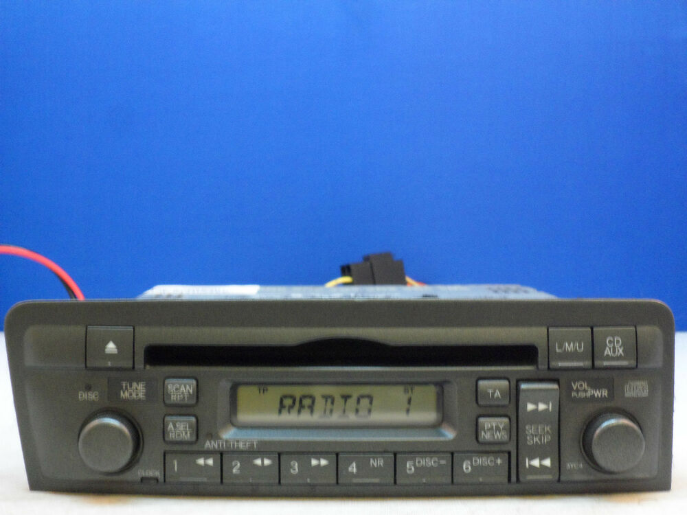 honda type r civic cd radio player an code 2001 2002. Black Bedroom Furniture Sets. Home Design Ideas