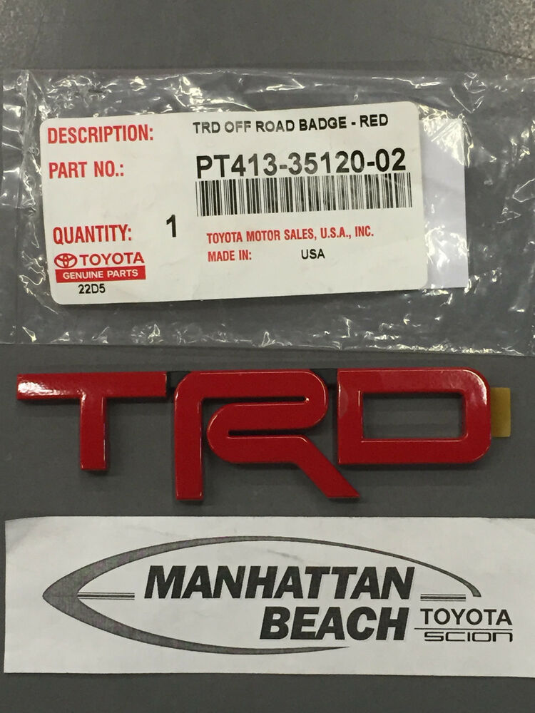 Toyota TUNDRA TRD RED Painted Metal Emblems - OEM NEW ...
