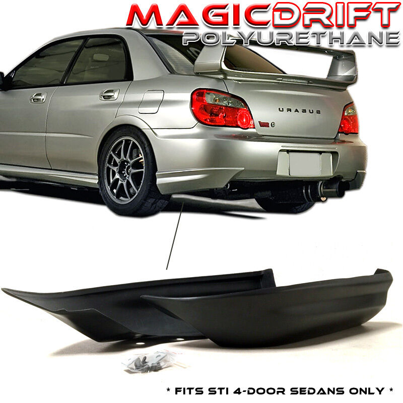 05 06 07 impreza wrx sti only rear bumper lip aprons. Black Bedroom Furniture Sets. Home Design Ideas