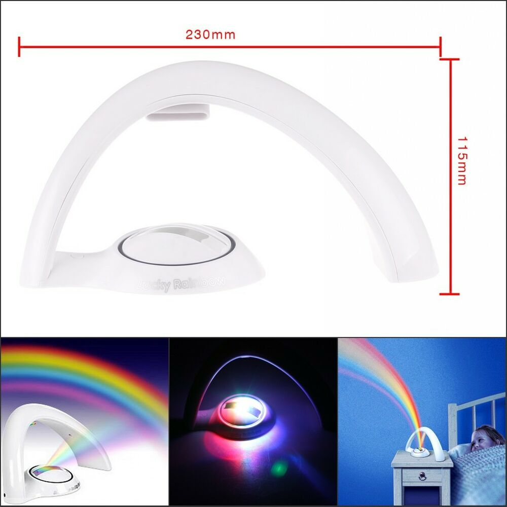 Magic Rainbow Led Room Lamp Projector Children Color Night