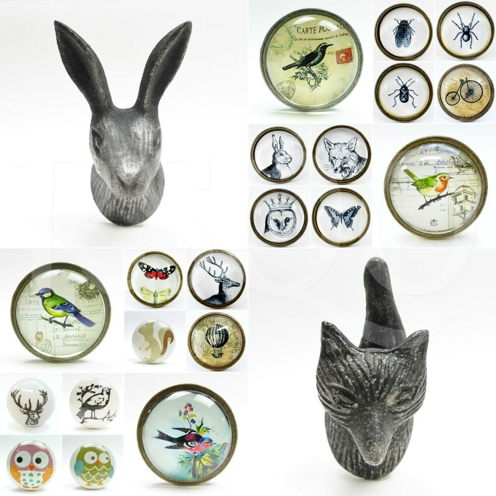 Ceramic animal door knobs drawer pulls cupboard door knobs for Small door knobs and handles