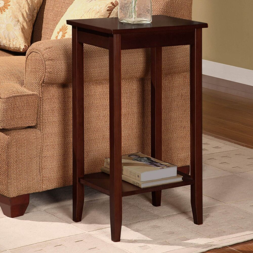 dhp 5138096 rosewood tall end table ebay. Black Bedroom Furniture Sets. Home Design Ideas