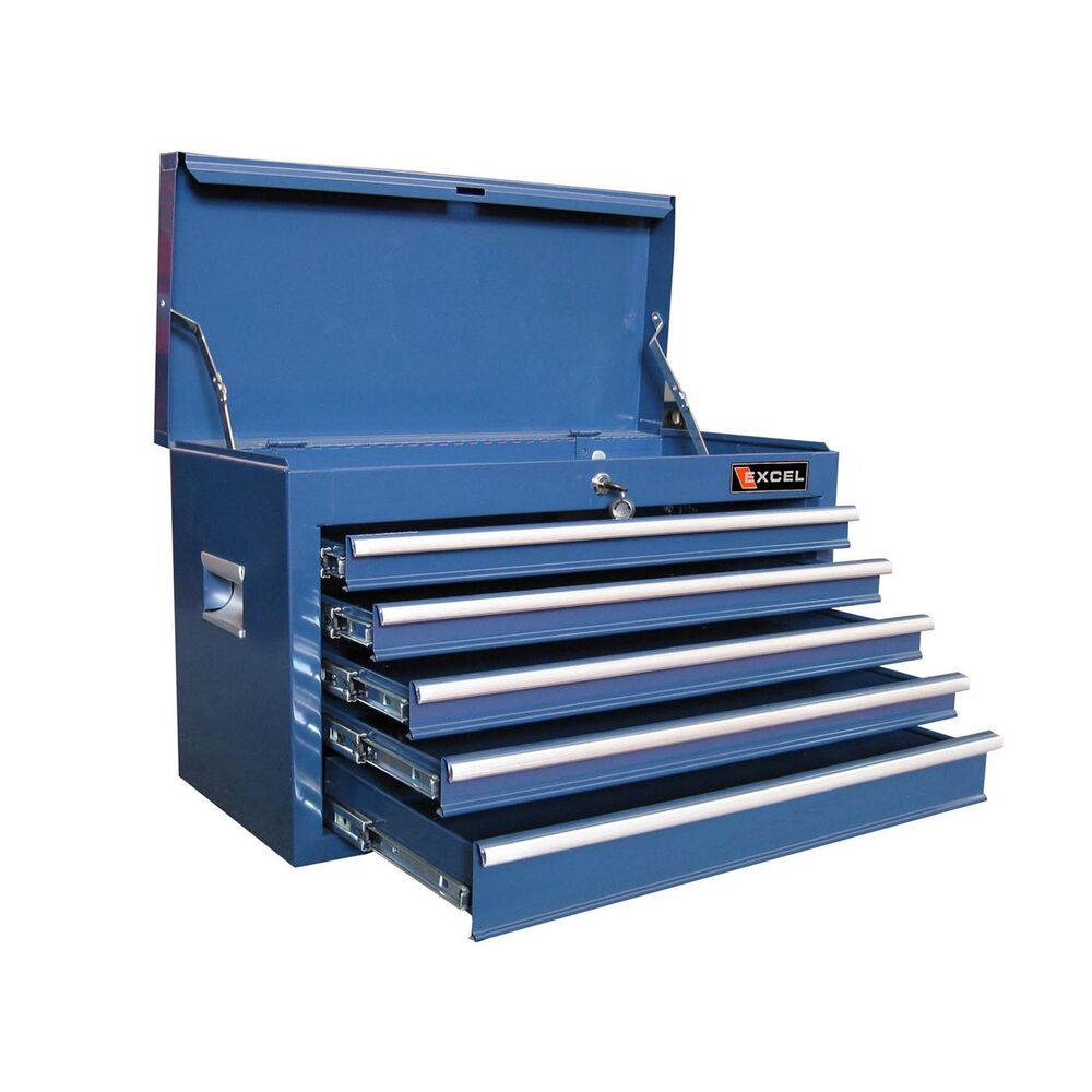 Excel Tool Boxes Tb2105 X Blue 5 Drawer Tool Chest Ebay