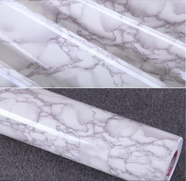 Gray marble self adhesive vinyl contact paper peel stick 24 inches by78 7 inc - Rouleau vinyl adhesif ...