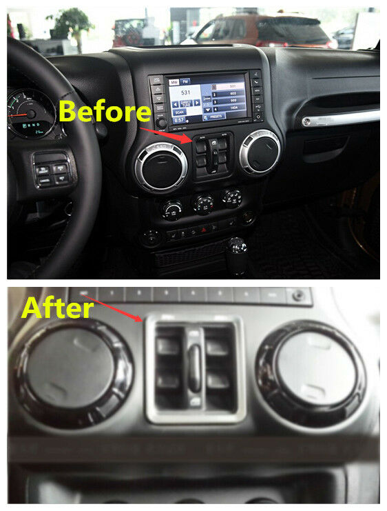 Window Switch Button Cover Trim 1pcs For Jeep Wrangler