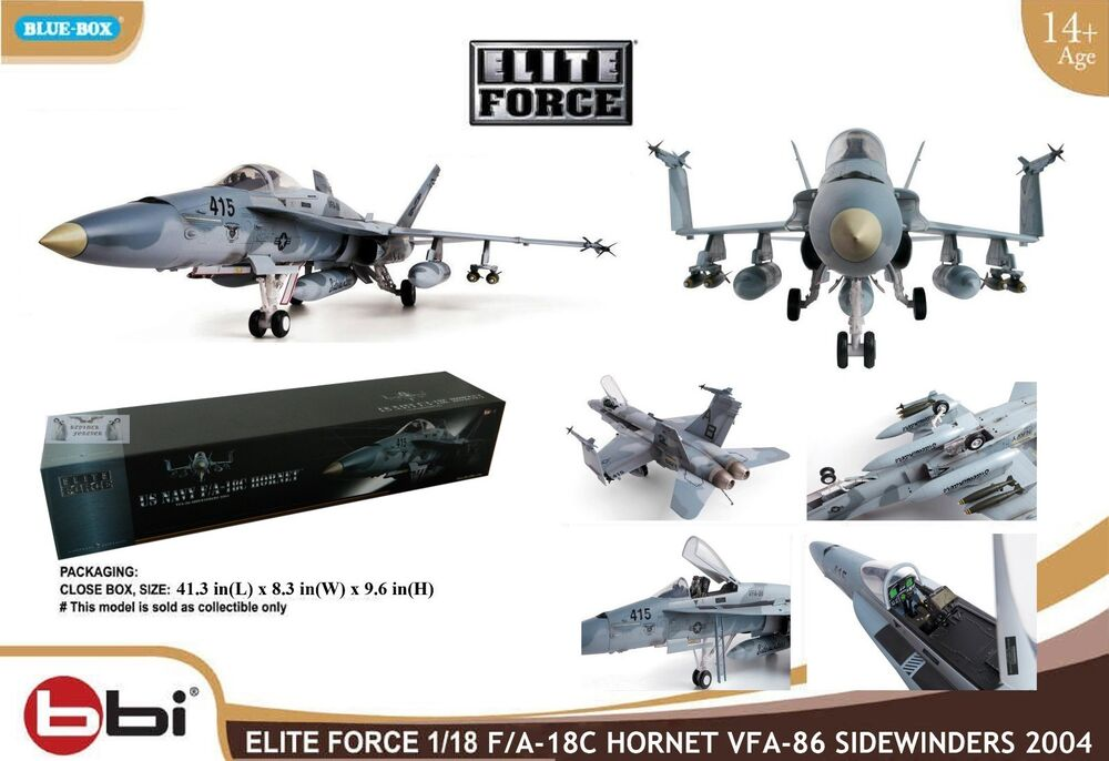 Military Toys Elite Force 1 18 : Blue box bbi elite force us navy f a c boeing