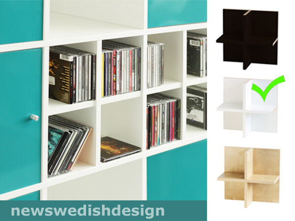cd einsatz f r expedit regal farbe wei auch f r. Black Bedroom Furniture Sets. Home Design Ideas
