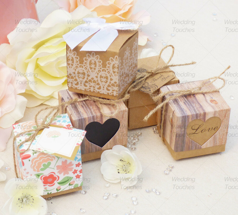Rustic Vintage Shabby Chic Wedding Favour Boxes