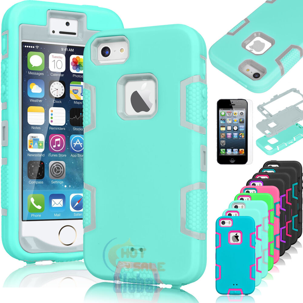 iphone 5 rubber cases shockproof hybrid rubber cover for apple iphone 14571