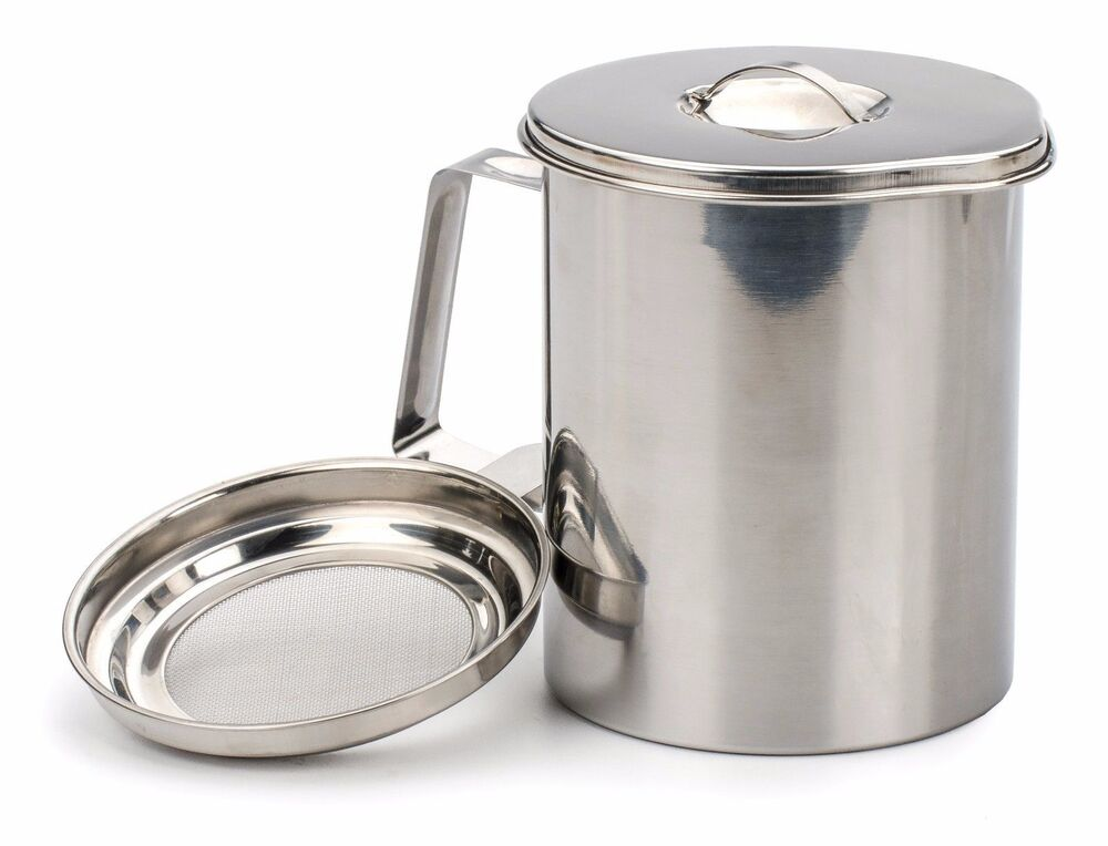 Rsvp bacon grease keeper cup stainless steel fryers