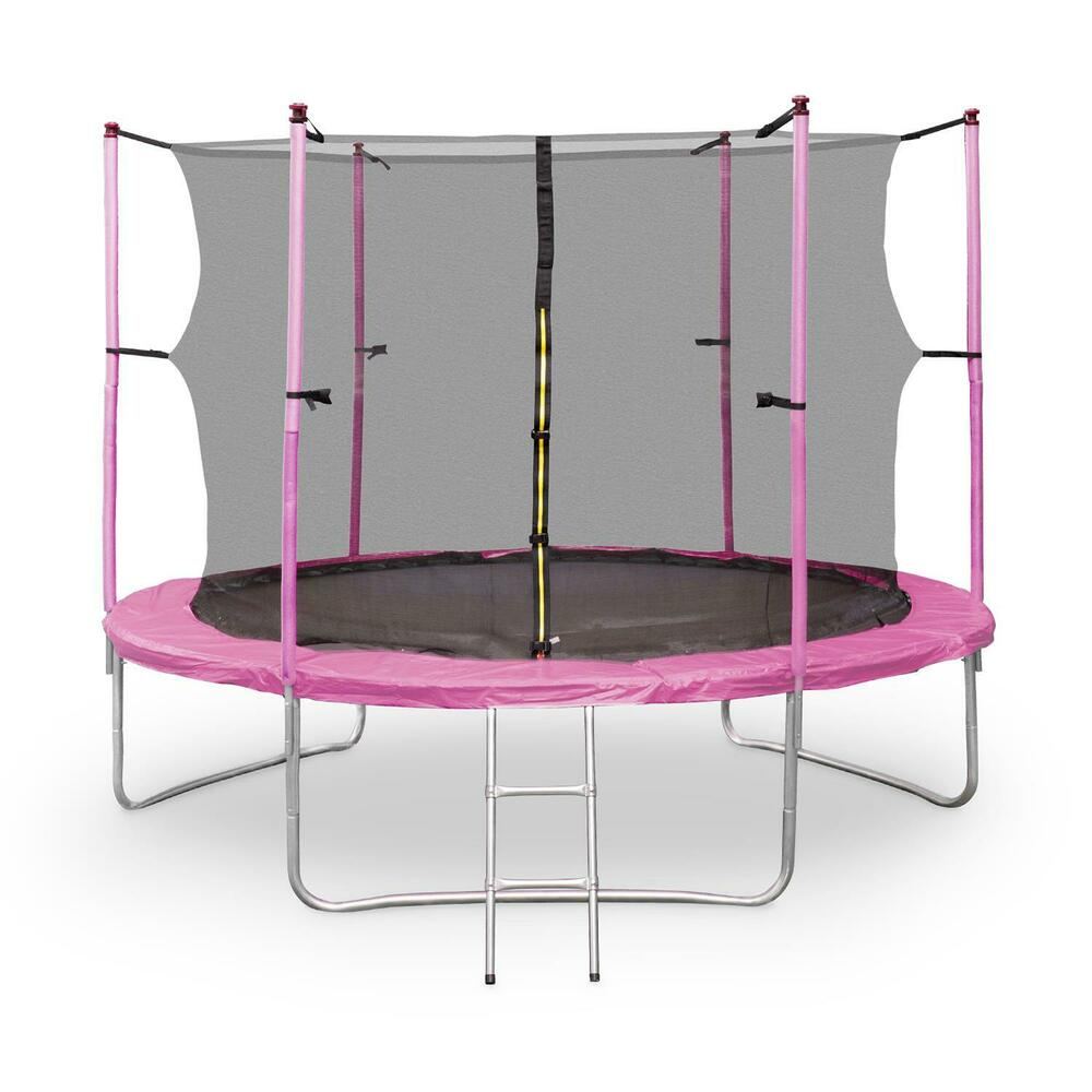 trampolin 305cm gartentrampolin komplettset mit leiter und sicherheitsnetz 3 05m ebay. Black Bedroom Furniture Sets. Home Design Ideas
