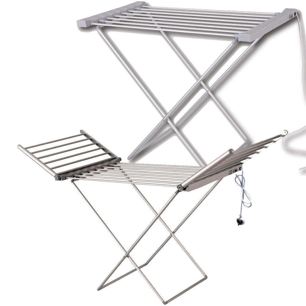 Heated Clothes Airer Dryer Portable Indoor Horse Rack