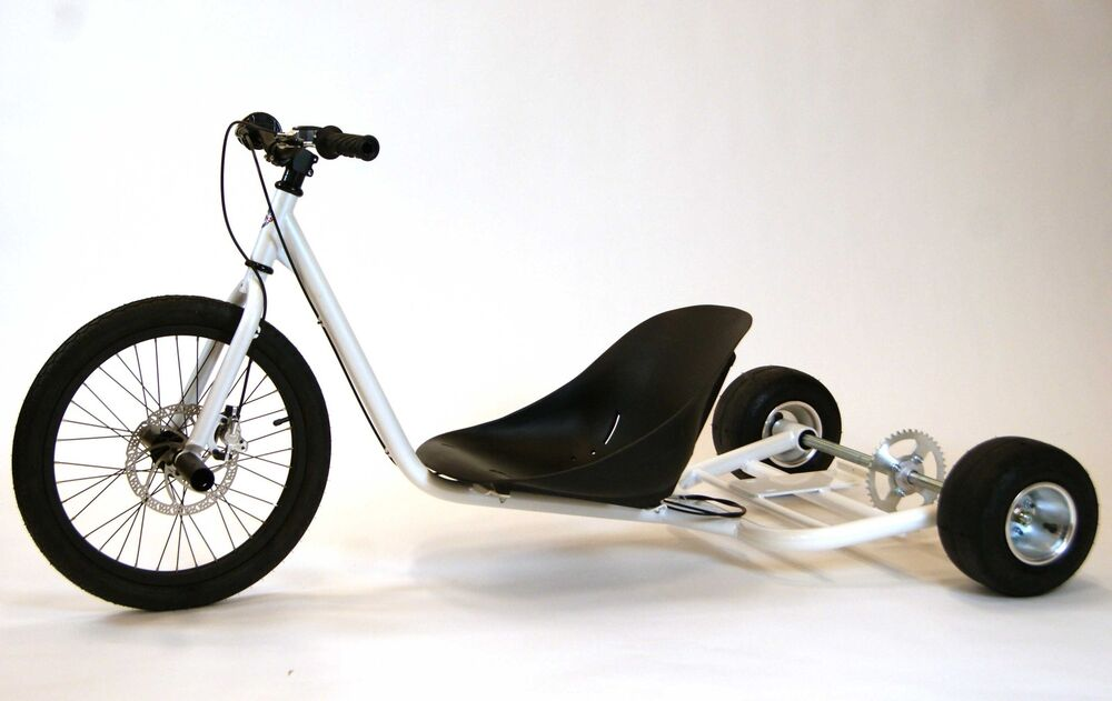 new gas powered drift trike chassis pearl white ebay. Black Bedroom Furniture Sets. Home Design Ideas