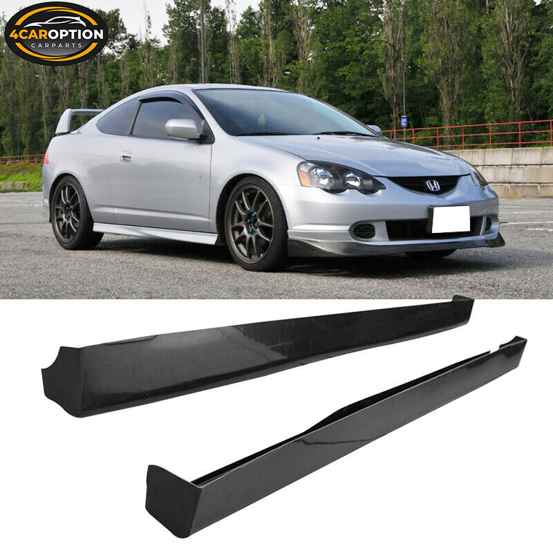 Fit 02-06 Acura RSX DC5 T-R Style Side Skirts Black ABS