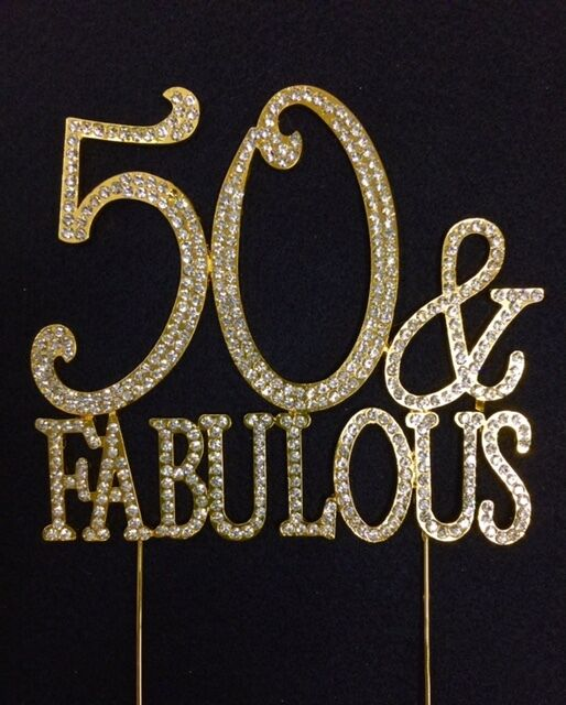 gold rhinestone 50 amp fabulous birthday party number cake