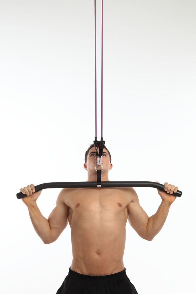 Anazao Fitness Gear By Accufitness Multi Myo Lat Bar For Resistance Bands Ebay