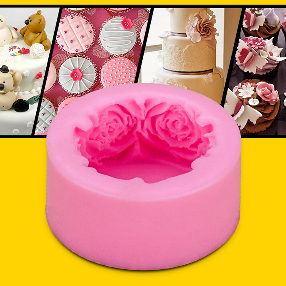 Sugarcraft Cake Decorating And Baking Show : DIY Silicone Lovely Rose Flower Cake Decorating Mold ...