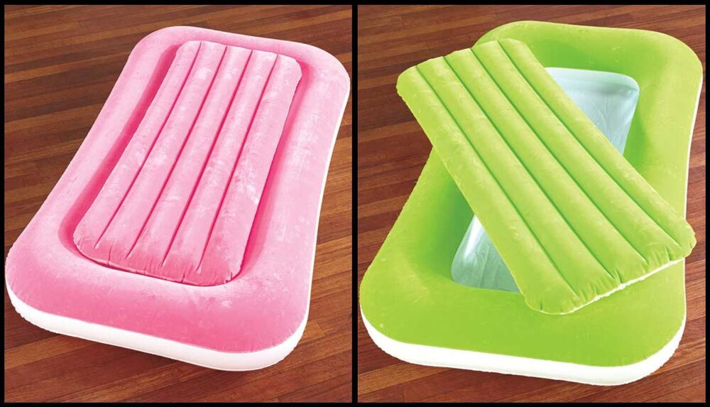 Pink Or Green Inflatable Kiddie Bed Air Mattress For Kid S