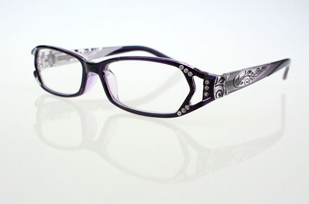 purple rhinestone reading glasses 1 00 1 25 1 50