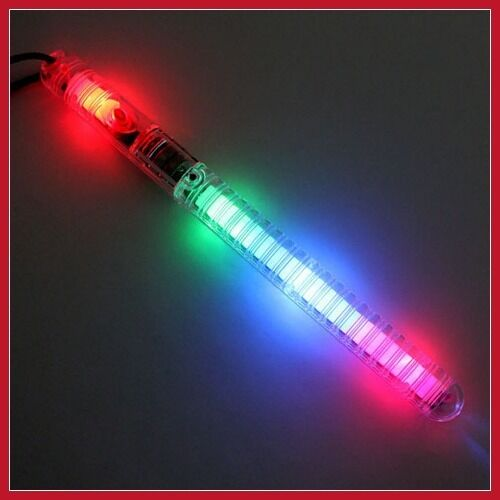 12 light up strobe sticks flashing patrol wands led glow. Black Bedroom Furniture Sets. Home Design Ideas