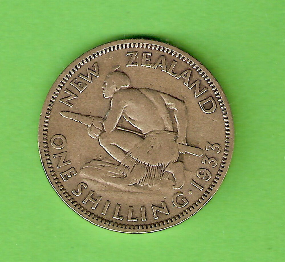 1933 new zealand silver shilling coin ebay. Black Bedroom Furniture Sets. Home Design Ideas