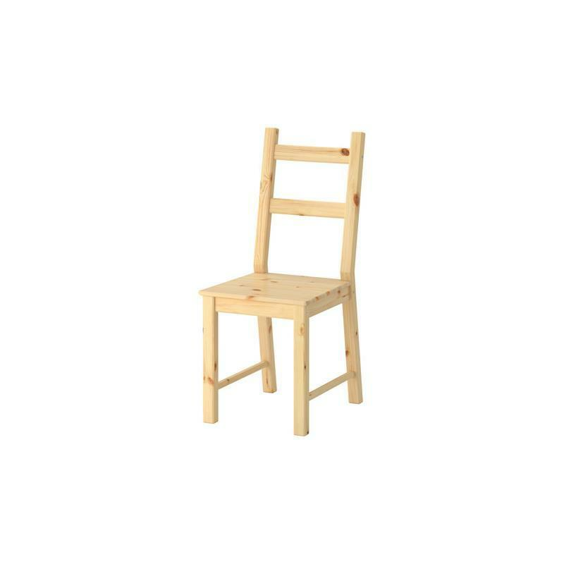 Ikea chair ivar pine solid kitchen chair dining room ebay for Kitchen and dining room chairs
