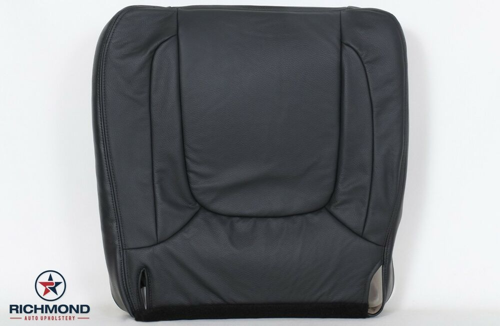 dodge laramie driver side bottom leather seat cover gray