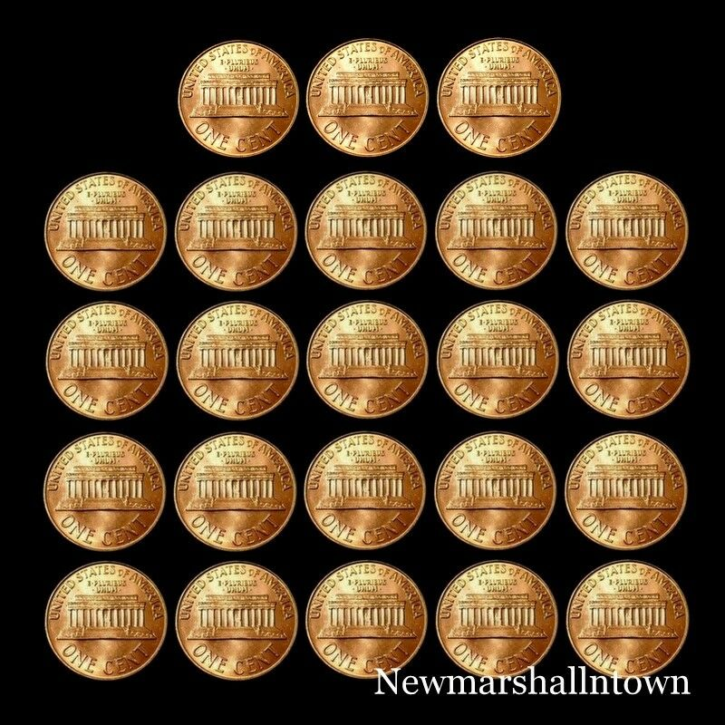 22 roll lot 1959 1960 1963 1964 1965 1966 1967 1968 1969 p d s lincoln Cent