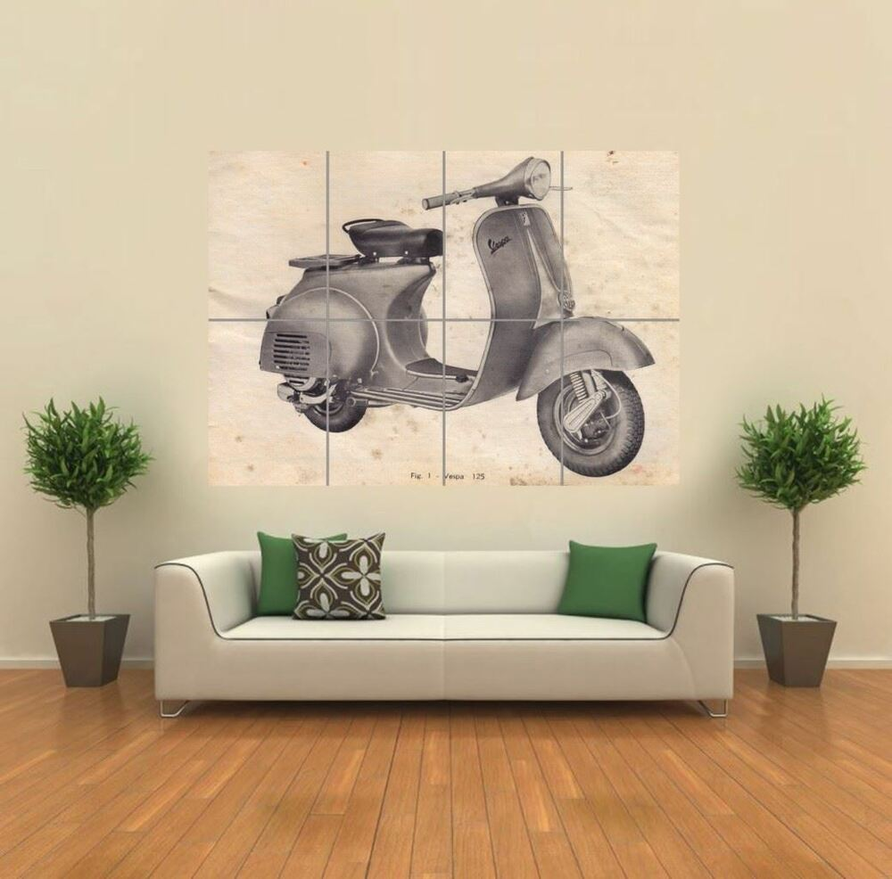 Scooter drawing new giant poster wall art print picture g1214 ebay