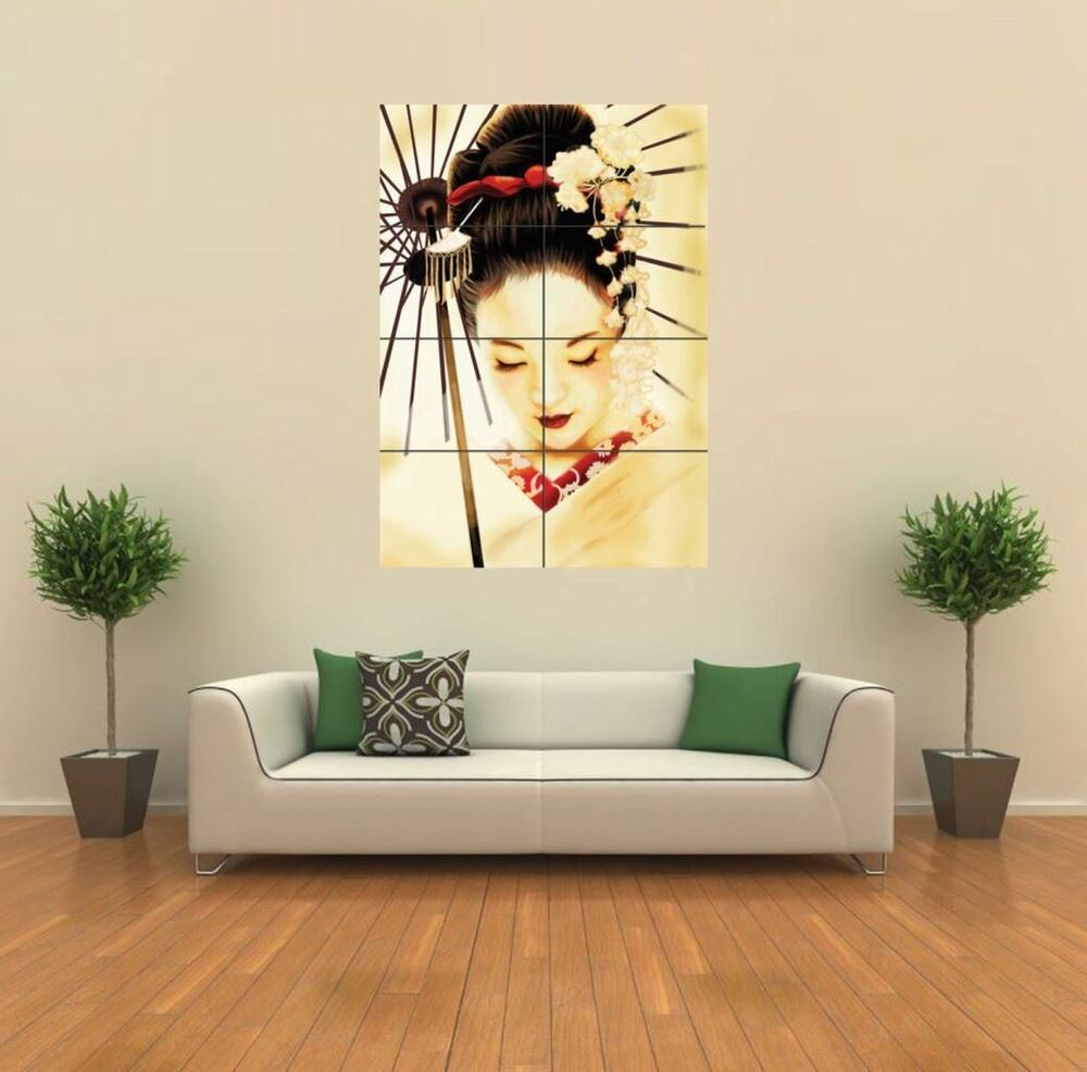 Geisha japanese new giant poster wall art print picture for Asian wall decoration