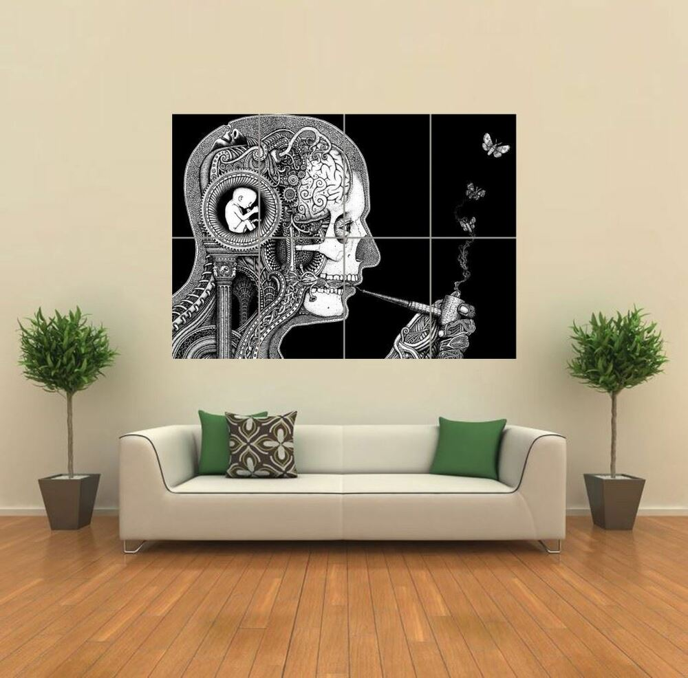 Psychadelic Weird New Giant Poster Wall Art Print Picture