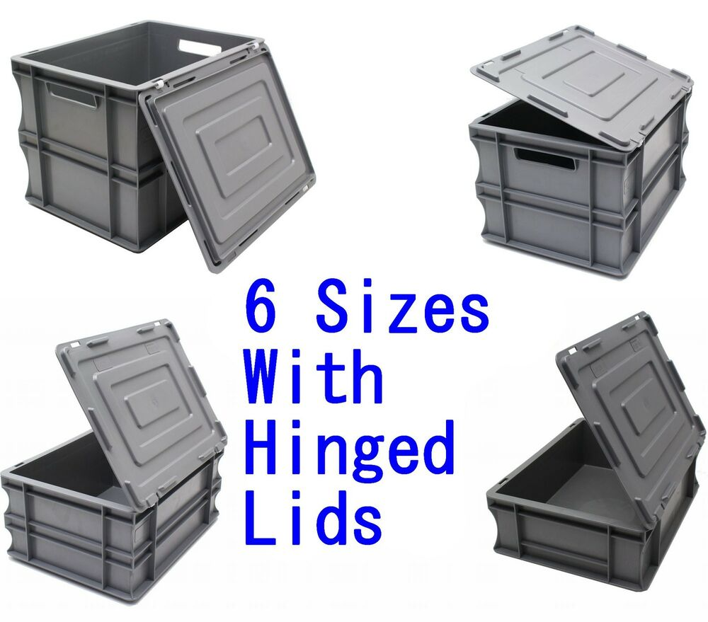 new heavy duty industrial type plastic euro storage box. Black Bedroom Furniture Sets. Home Design Ideas