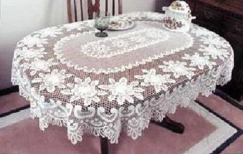 Heritage Lace Rose Tablecloth Rectangle Or Oval Colors