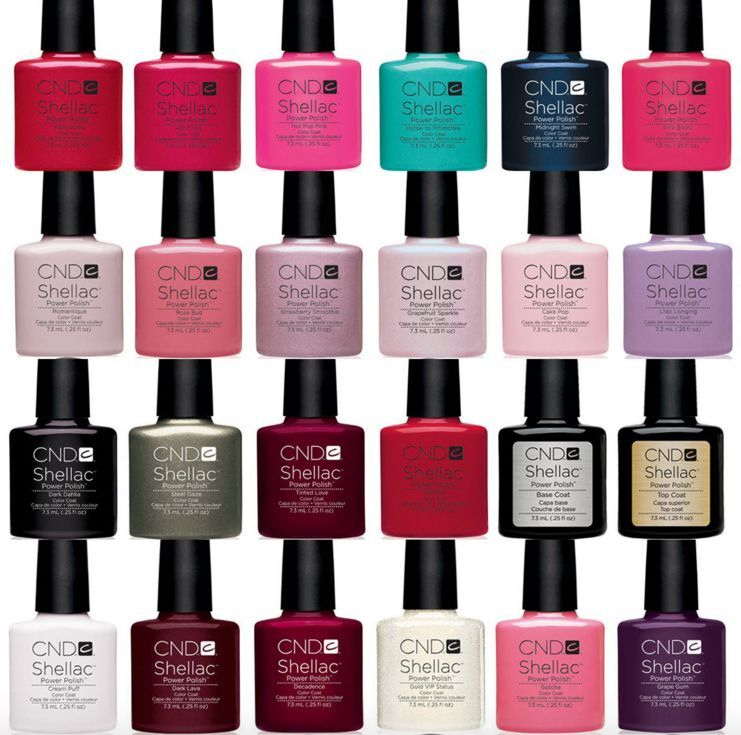 new cnd shellac uv nail power polish all colours top coat or base coat premium ebay. Black Bedroom Furniture Sets. Home Design Ideas