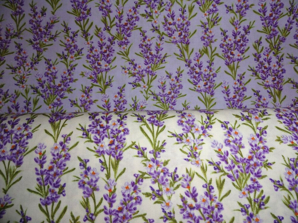 Cotton Springtime Lavender Fabric Quilting Cotton