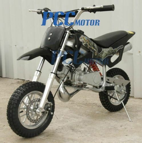 49cc 2 stroke gas motor mini pocket dirt bike for kids free s h black i db49a ebay. Black Bedroom Furniture Sets. Home Design Ideas