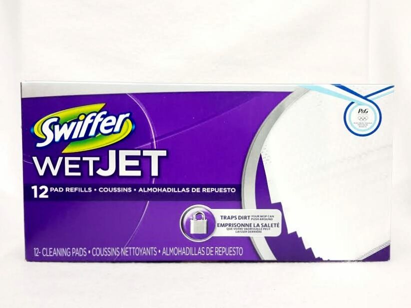Swiffer Wet Jet 12 Count Pad Refills Flocr Wipping