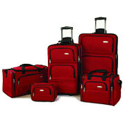 Samsonite 5-Piece Travel Luggage Set (Red) $79.99